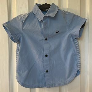 Armani Baby Boy Short-Sleeved Button Up Shirt
